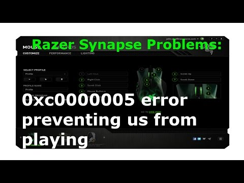 [Proved Fix] Error: 0xc0000005 - caused by Razer Synapse (You Cant Launch Games) GUIDE