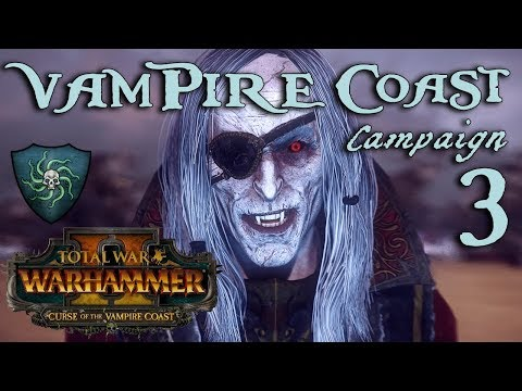 SLAAN GOLD QUEST! Total War: Warhammer 2 - Vampire Coast Campaign - Luthor Harkon #3