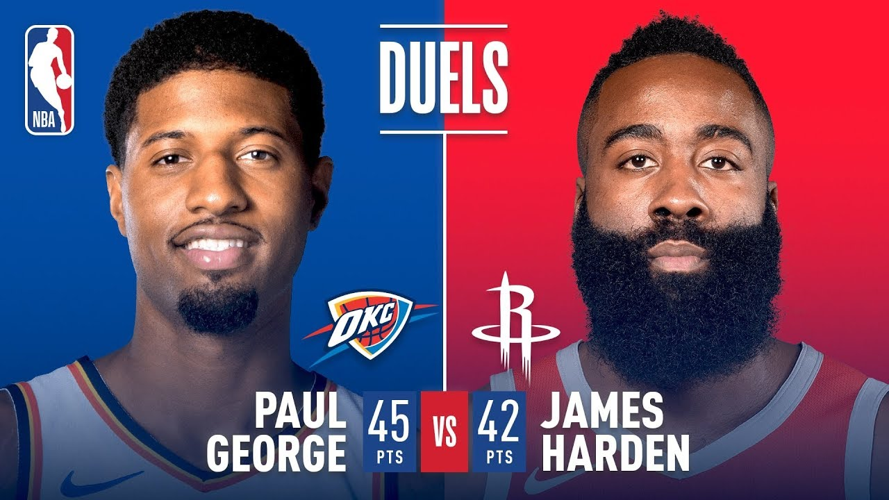 d754b433b29d Paul George   James Harden Both Go For 40+ POINTS In Houston ...