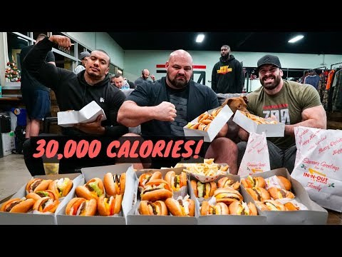 30,000 CALORIE CHALLENGE w/ 450 LB MAN BRIAN SHAW AND LARRY