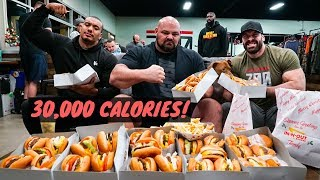 30,000 CALORIE CHALLENGE w/ 450 LB MAN BRIAN SHAW AND LARRY WHEELS !