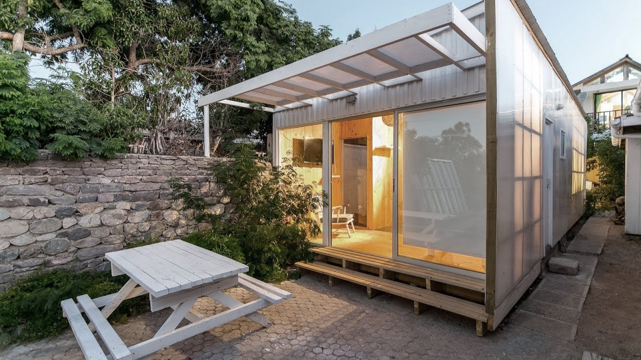 30 Sqm Rectangular Tiny House Design with Low cost Construction