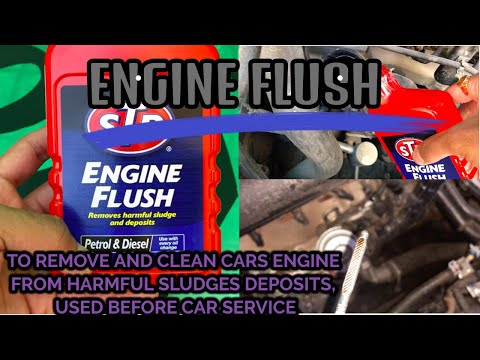 HOW TO FLUSH CAR ENGINE OIL during car service tata harrier xuv300 Maruti Suzuki SCross brezza CRETA