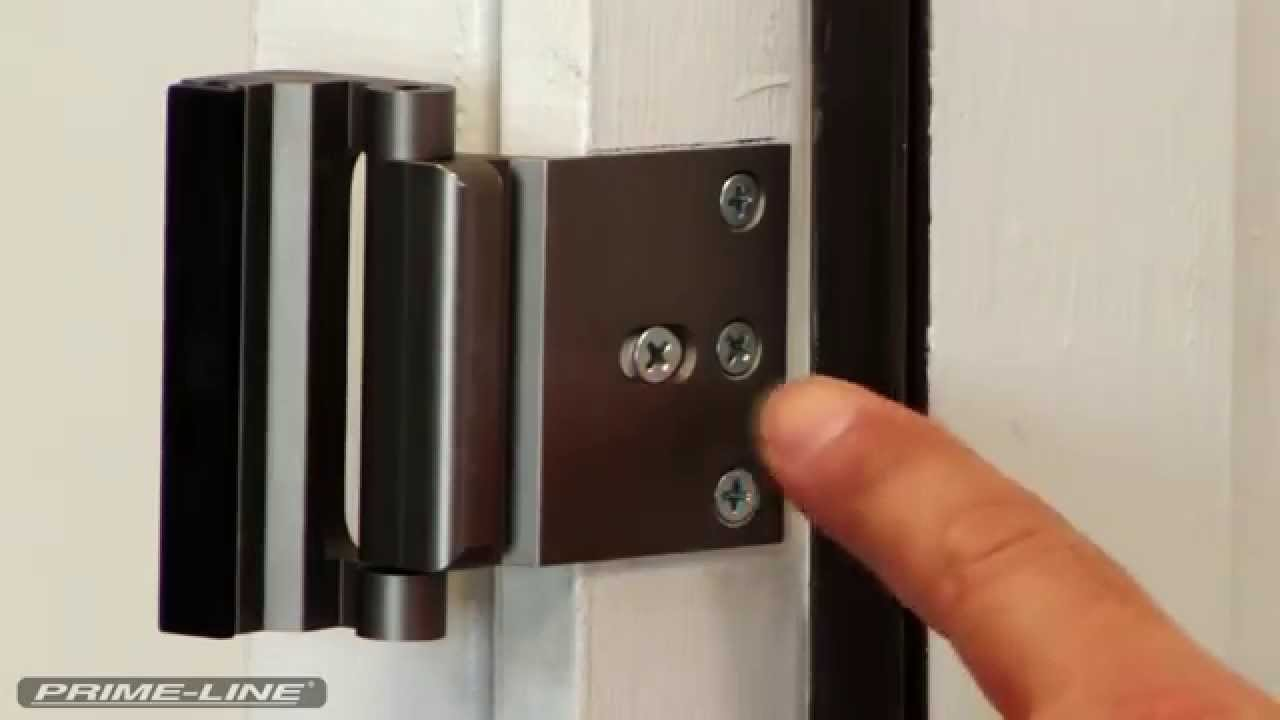 How To: Install Prime-Line\'s High Security Door Lock - YouTube