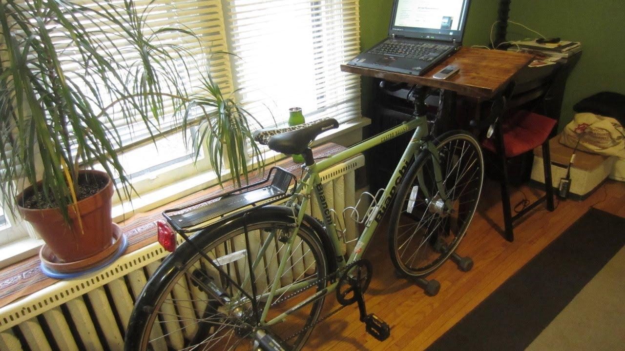 How To Make A Bike Desk Youtube