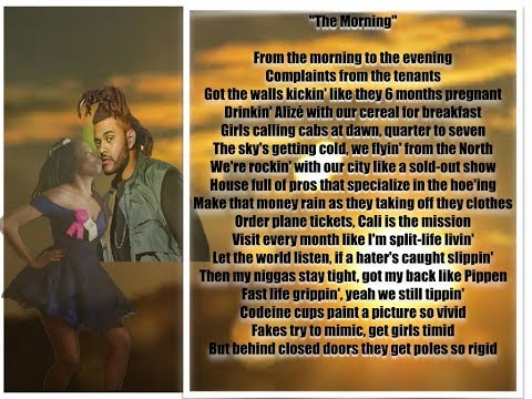 The Weeknd  The Morning Original Song And Lyrics
