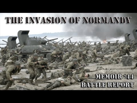 D Day The Invasion Of Normandy At Omaha Beach Using Memoir 44 Command Combat Battle Report