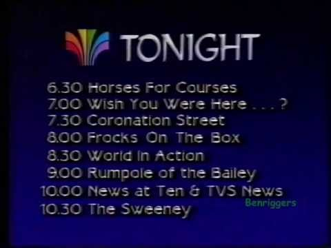 TVS Continuity 16th February 1987