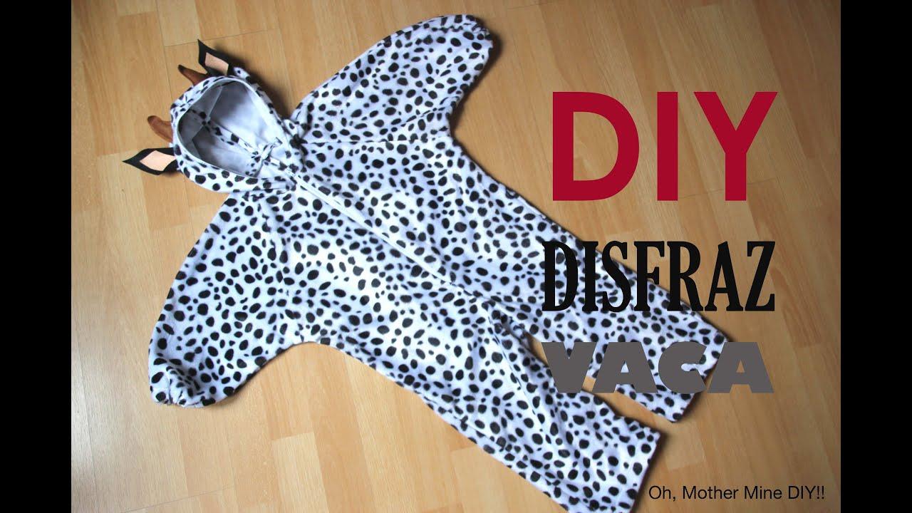 Diy tutorial disfraz de vaca para ni os patrones gratis - Como hacer un disfraz de bebe ...