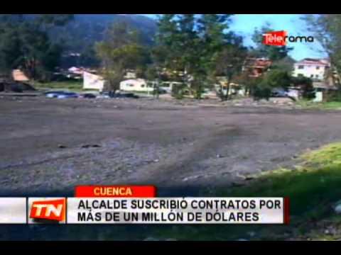 Alcalde suscribió contratos por más de un millón de dólares