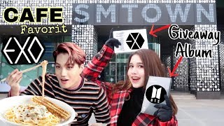 Download Video KOREA VLOG #2 - Menu Favorit EXO di SM CAFE! + GIVEAWAY ALBUM BTS & EXO 😍 MP3 3GP MP4