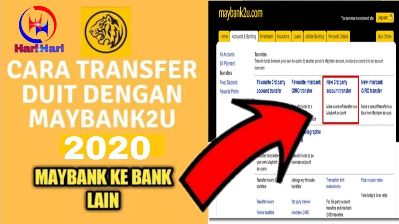 Cara Transfer Duit Dengan Maybank2u Maybank To Maybank 2020 Hari Hari Youtube