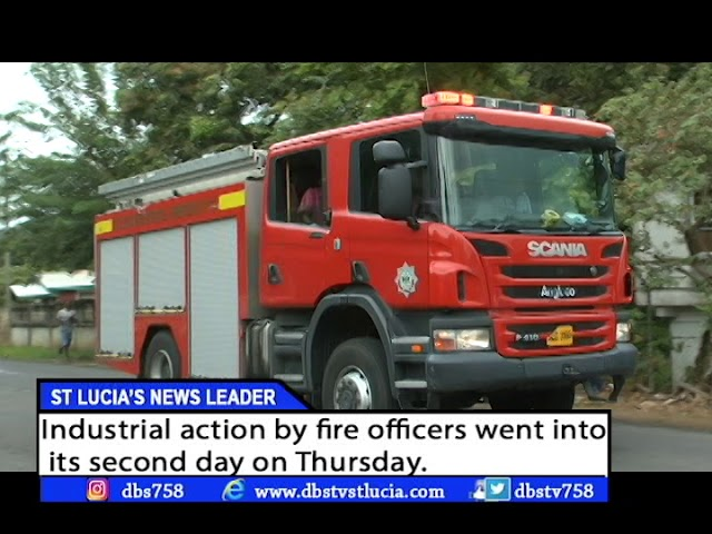 FIRE OFFICERS OUT FOR SECOND DAY