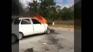 Авария на свадьбе в Чечне 2017#КакВестиСебяНаДороге в Чечне#