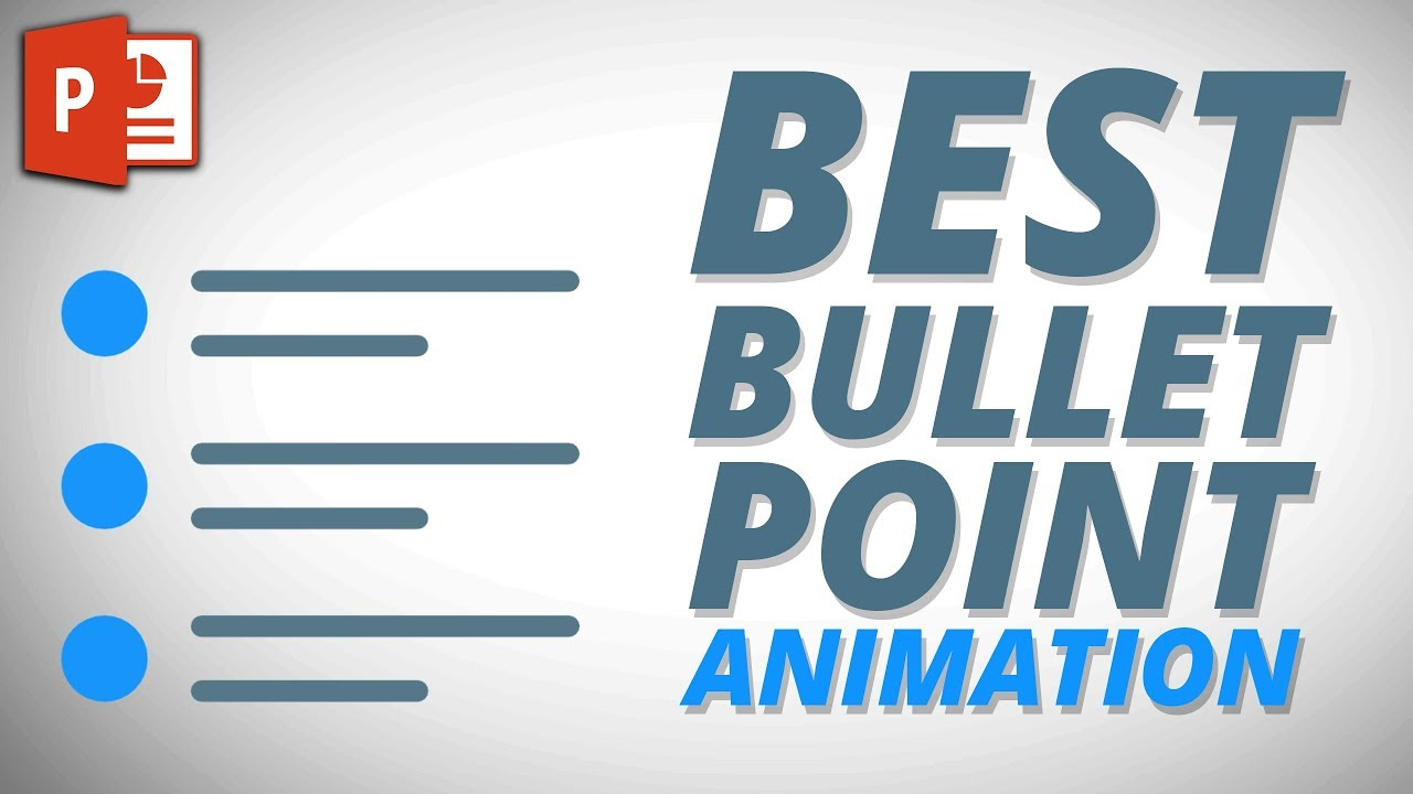 Best PowerPoint Bullet point Slide Animation ✔