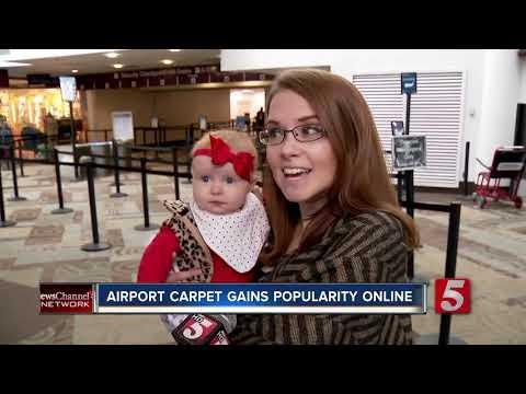 Carpet at Nashville International Airport gains popularity on social media