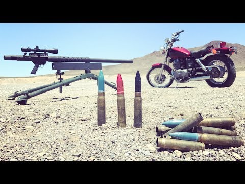 20MM CANNON VS MOTORCYCLE