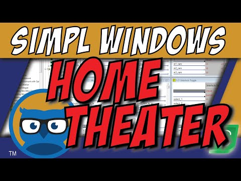 Crestron SIMPL Windows HOME THEATER Programming Tutorial