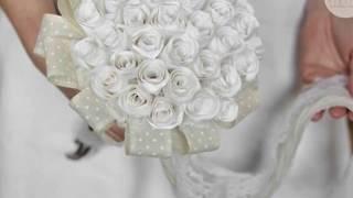 Изысканный свадебный букет из бумажных роз