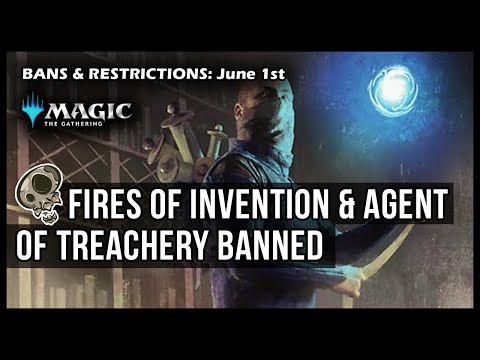 FIRES OF INVENTION & AGENT BANNED! | June 1 Bans & Restrictions | Magic The Gathering Arena Ikoria
