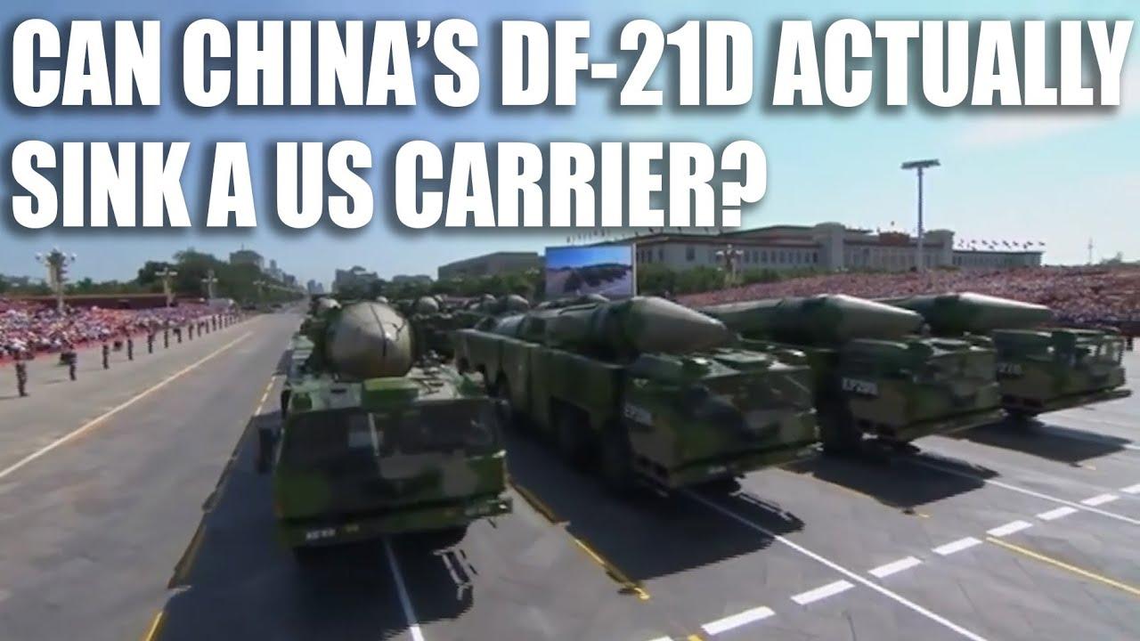 China's DF-21D Anti-Ship Ballistic Missile - YouTube