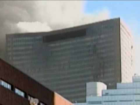 WTC7 Demolition on 9/11 - Zoomed View from NW
