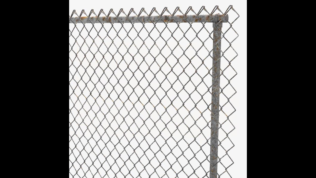 Chain link fence 3d model from youtube for 3d fence