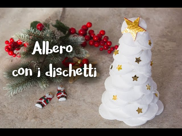 Alberello di Natale con dischetti struccanti