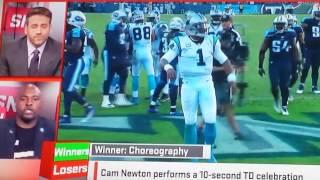Sportsnation - cam newton td dance