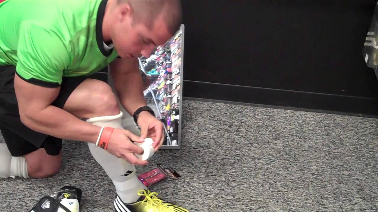 1d9b1e878 How to Tape Up Your Socks / Shin Guards - YouTube