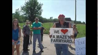 Puppy Mill protest part 2 A Maze In Farmyard Eden Valley Mn 8 15 15 Eden Valley Mn