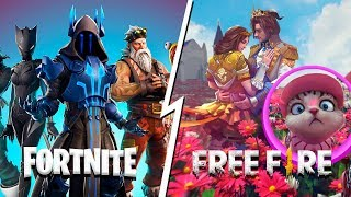 fortnite vs free fire