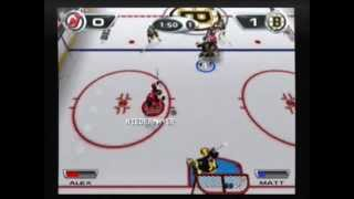 NHL Hitz 2002 Gameplay - Devils vs Bruins
