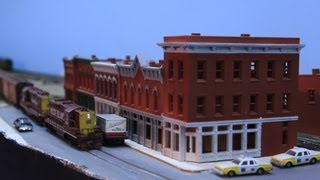 Layout Tour - N Scale - Rock Island - Double Deck Layout - 1970's Era