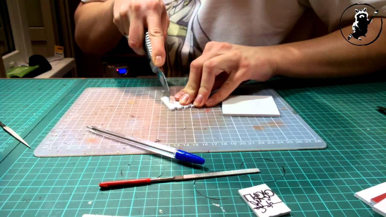 Видеоурок Изготовление террейна из листового ПВХ - YouTube