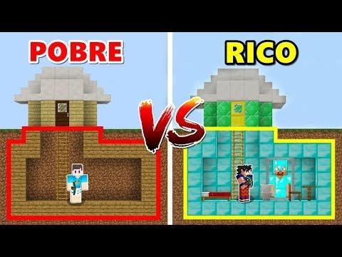 ESCONDERIJO DE RICO VS ESCONDERIJO DE POBRE NO MINECRAFT! thumbnail