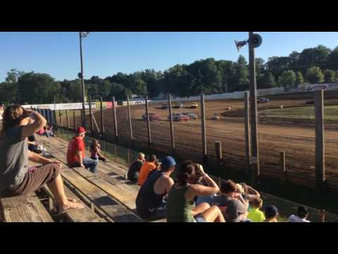7-16-16 Bomber Heat Race 1 at Lincoln Park Speedway