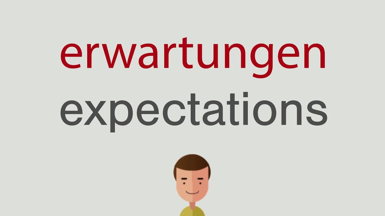 Erwartungen Auf Englisch