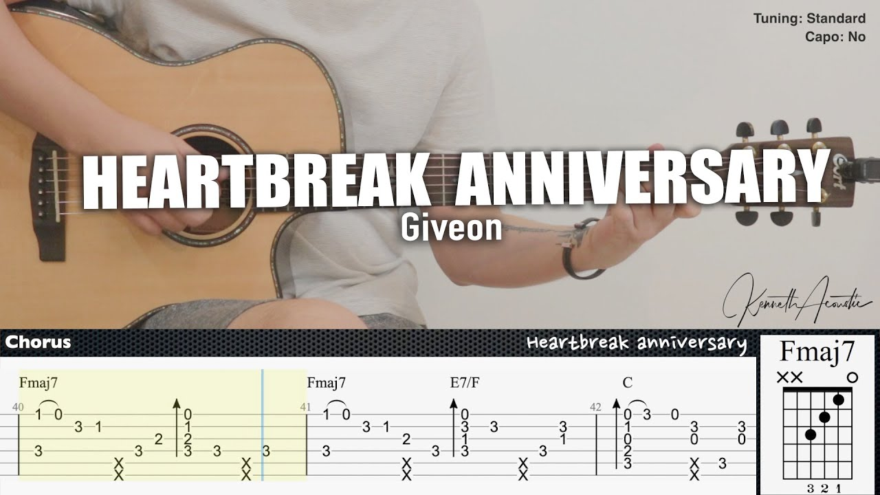HEARTBREAK ANNIVERSARY - Giveon | Fingerstyle Guitar | TAB + Chords + Lyrics