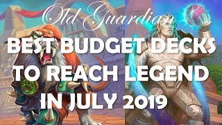 Top 6 best Budget Decks to climb to Legend in July 2019 (Hearthstone Rise of Shadows)