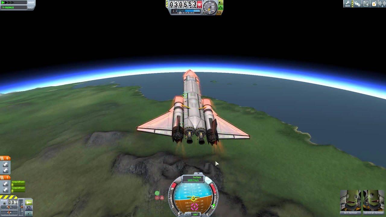 Kerbal Space Program Career Mode Part 28 Space Plane