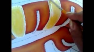 Pintura en tela rosca de reyes # 2 con cony