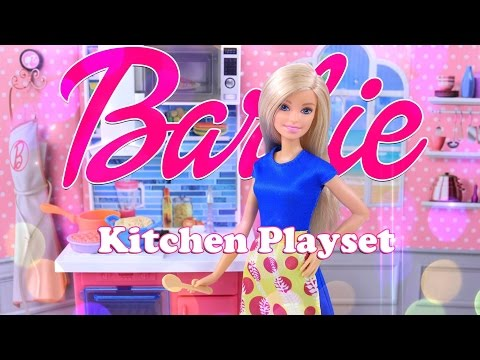 Unbox Daily:  Barbie You Can Be A Storyteller Kitchen Play Set Review - 4K