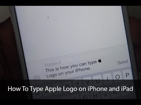 How To Type Apple Logo On Iphone And Ipad With Keyboard Shortcut