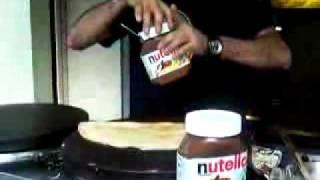 Crepes Con Banana Y Nutella En Paris