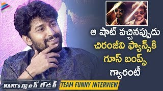 Nani About Chiranjeeviand#39;s Gang Leader Scene in his Movie | Naniand#39;s Gang Leader Team Funny Interview