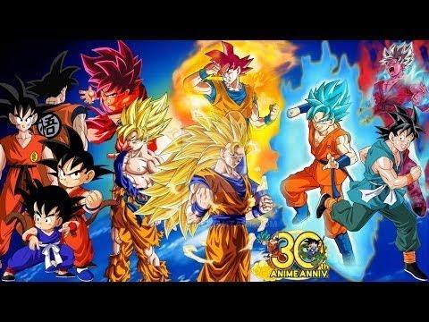 Tutte le trasformazioni di Goku in assoluto