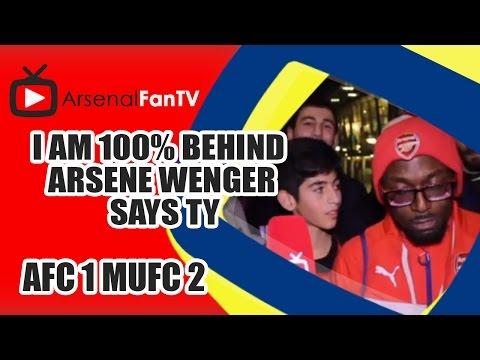 I am 100% Behind Arsene Wenger says TY - Arsenal 1  Man Utd 2