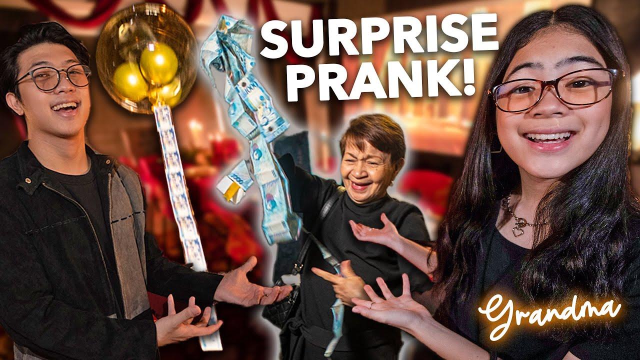 SURPRISING Our Grandma! (Lumipad Yung Pera!) | Ranz and Niana