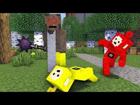 Teletubbies minecraft: Laa - Laa Po vs Granny - Minecraft Animation